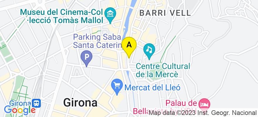 situacion en el mapa de . Direccion: C/Riu Güell, nº 4 Local B, 17001 Girona. Girona