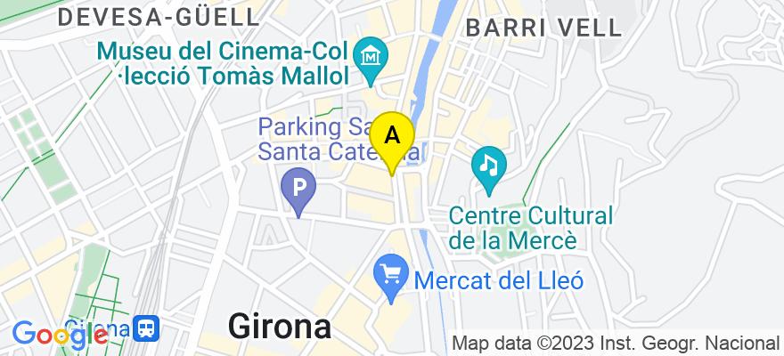 situacion en el mapa de . Direccion: Plaça Catalunya 28, 2n, 17002 Girona. Girona