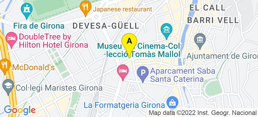 situacion en el mapa de . Direccion: Plaça Marques de Camps, 1,3r, 17001 Girona. Girona