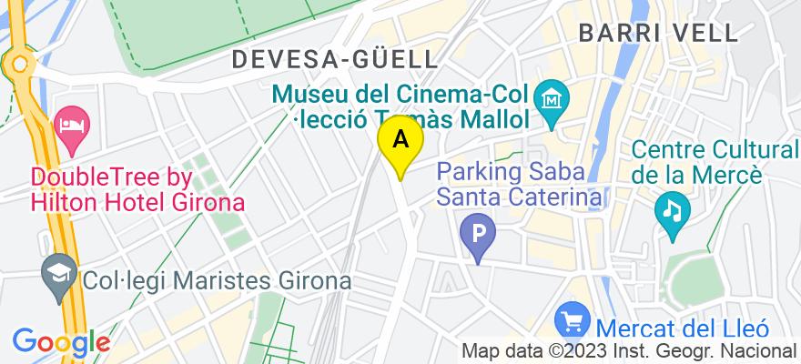 situacion en el mapa de . Direccion: ronda ferran puig, 4, 17001 Girona. Girona