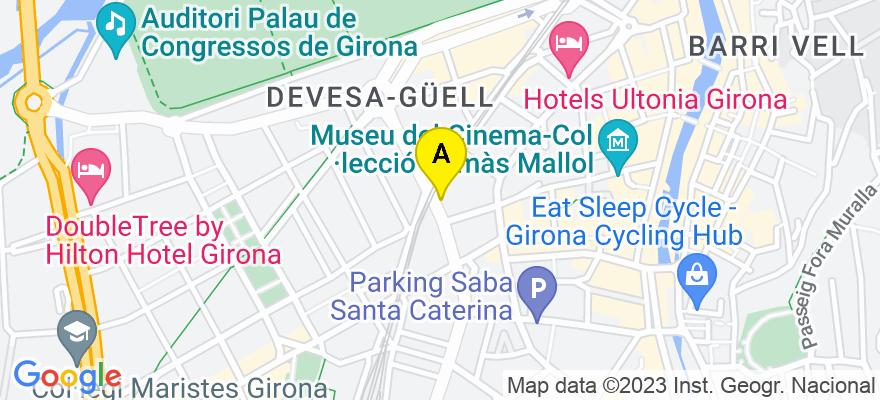 situacion en el mapa de . Direccion: c/ Bonastruc de Porta, 35, 1º B, 17001 Girona. Girona