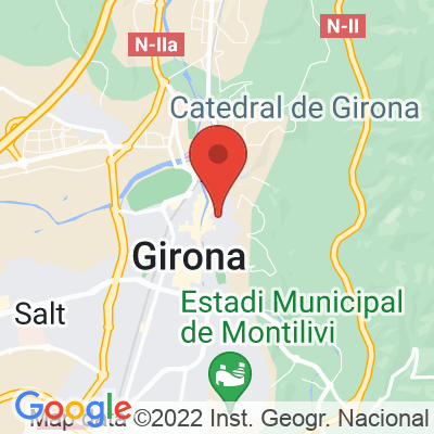 Map showing La Fabrica Girona