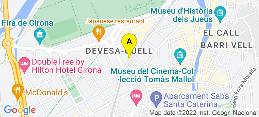 situacion en el mapa de . Direccion: Carrer Bonastruc de Porta, 24 5e 1ª, 17001 Girona. Girona