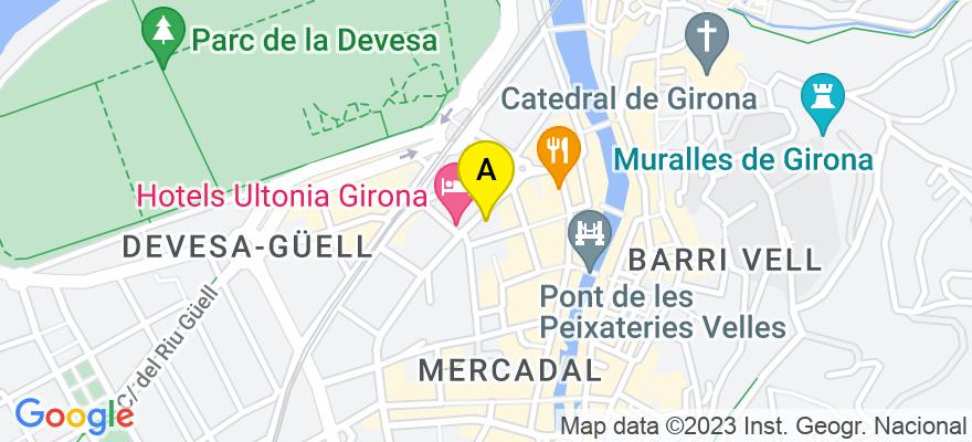 situacion en el mapa de . Direccion: Gran Via Jaume I núm.29 5-2, 17003 Girona. Girona