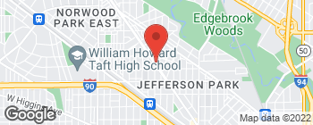 Map of 5717 N Milwaukee Ave in Chicago