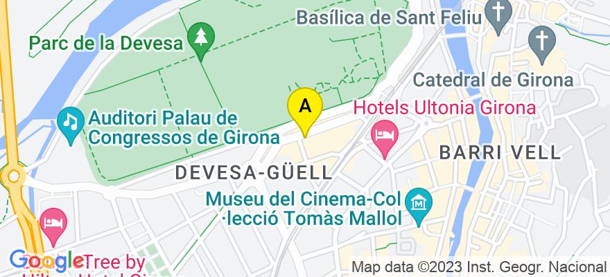 situacion en el mapa de . Direccion: C/ Riu Güell núm. 4B, 17001 Girona. Girona