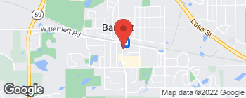 Map of 227 S Main St in Bartlett