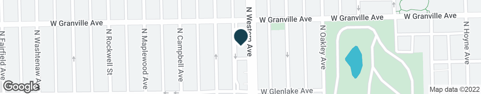 Google Map of6140 N WESTERN AVE