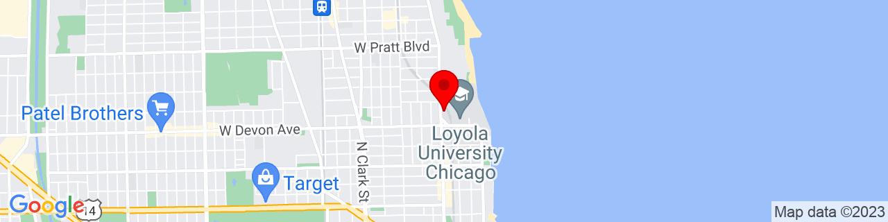 Google Map of 41.9995062, -87.66026339999999