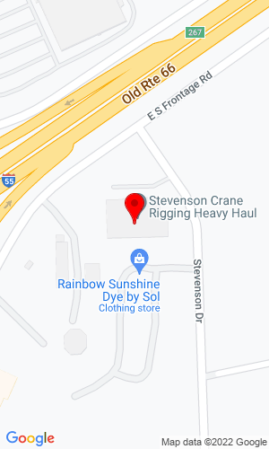 Google Map of Stevenson Sales & Service LLC 410 Stevenson Drive, Bolingbrook, IL, 60440