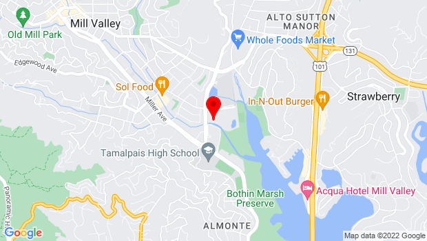 Google Map of 410 Sycamore Avenue, Mill Valley, CA 94941