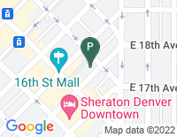 Google Map of 410 17th Street, Denver CO