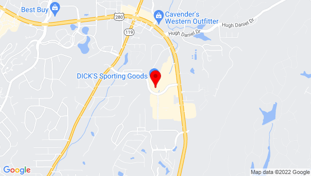 Google Map of 410 Doug Baker Boulevard, Birmingham, AL 35242