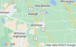 Map of Williston Crossings RV Resort