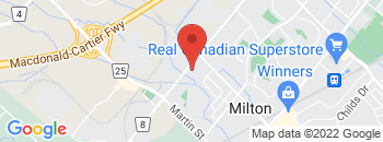Google Map of 410+Steeles+Ave%2CMilton%2COntario+L9T+1Y4