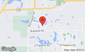 Map of 410 Winfield Lane INVERNESS, IL 60010