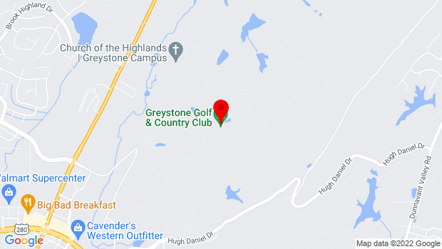 Google Map of 4100 Greystone Dr, Birmingham, AL 35242