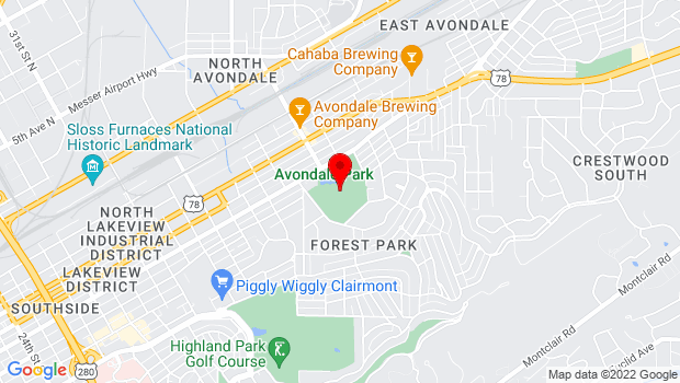 Google Map of 4101 5th Avenue South  , Birmingham, AL 35222