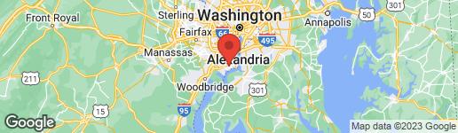 Map of 4105 COLONIAL AVENUE ALEXANDRIA, VA 22309