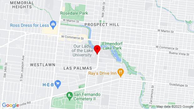 Google Map of 411 S.W. 24th Street, San Antonio, TX 78207