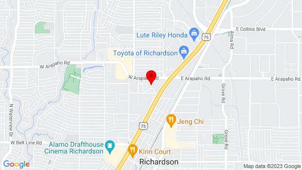 Google Map of 411 W. Arapaho Road, Richardson, TX 75080