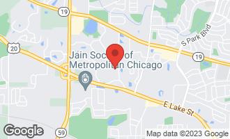 Map of 411 Elderberry Lane STREAMWOOD, IL 60107