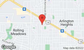 Map of 411 North Dwyer Avenue ARLINGTON HEIGHTS, IL 60005