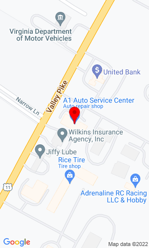 Google Map of Truck Parts Unlimited 4110 Valley Pike, Winchester, VA, 22602