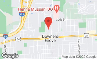 Map of 4112 Forest Avenue DOWNERS GROVE, IL 60515