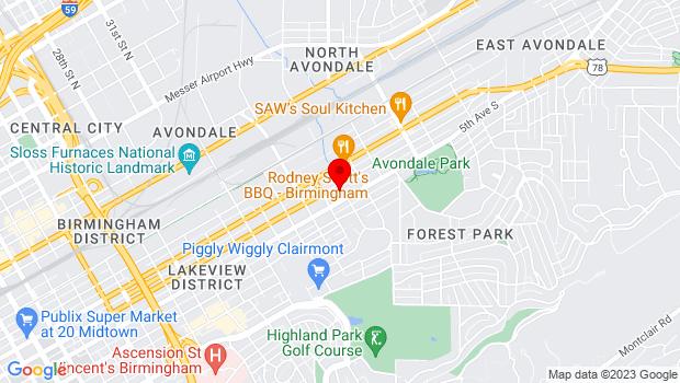 Google Map of 412 37th Street South, Birmingham, AL 35222