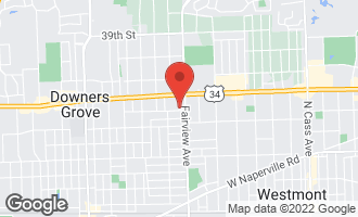 Map of 412 Sherman Street DOWNERS GROVE, IL 60515
