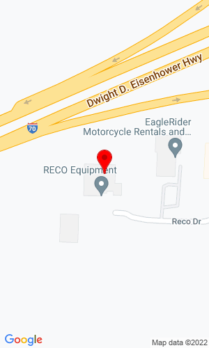 Google Map of RECO Equipment, Inc. 41245 RECO Road, Belmont, OH, 43718