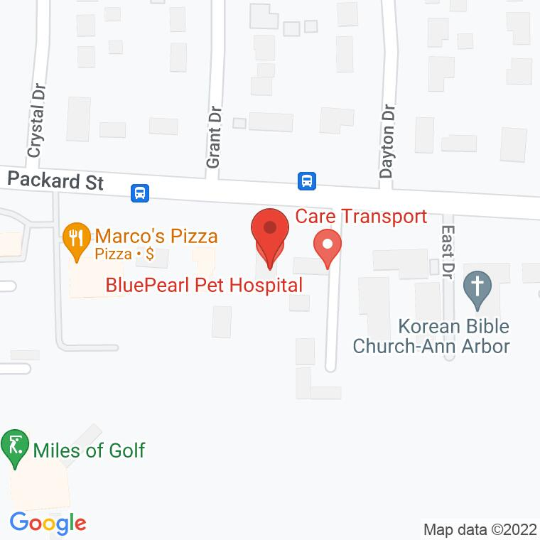 Google Map of 4126 Packard St, Ann Arbor, MI, 48108