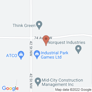 Google Map of 4129 74 Ave NW Edmonton, AB T6B 2Z7