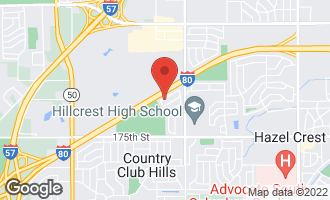 Map of 4131 Indian Hill Drive COUNTRY CLUB HILLS, IL 60478
