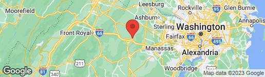Map of 4145 HALFWAY ROAD THE PLAINS, VA 20198