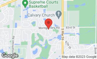Map of 4148 Cave Creek Court NAPERVILLE, IL 60564