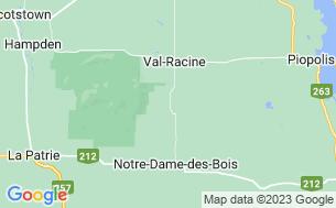 Map of Camping Et Tipis La Cédrière De La Montagne