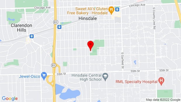 Google Map of 415 W Eighth Street, Hinsdale, IL 60521