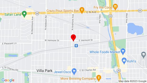Google Map of 415 North Ardmore, Villa Park, IL 60181