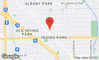 Map of 4152 North Ridgeway Avenue #2 CHICAGO, IL 60618