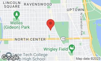 Map of 4155 North Greenview Avenue CHICAGO, IL 60613