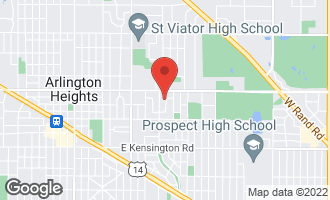 Map of 416 North Drury Lane ARLINGTON HEIGHTS, IL 60004