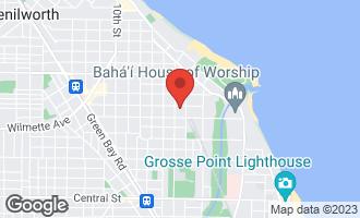 Map of 417 Greenleaf Avenue WILMETTE, IL 60091