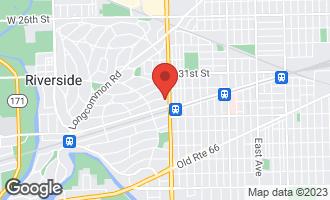 Map of 417 Herrick Road RIVERSIDE, IL 60546