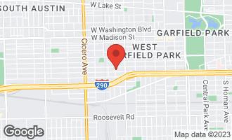 Map of 417 South Kilbourn Avenue CHICAGO, IL 60624