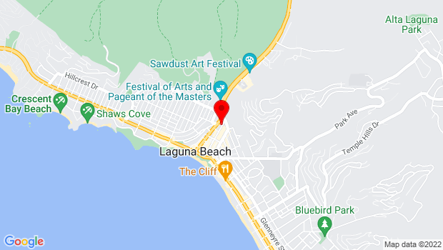 Google Map of 418 Ocean Ave, Laguna Beach, CA 92651