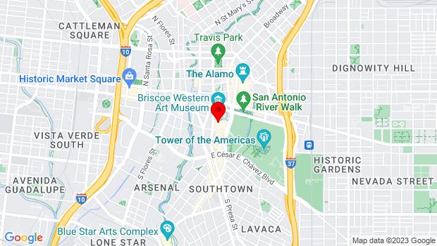 Google Map of 418 Villita St., San Antonio, TX 78205