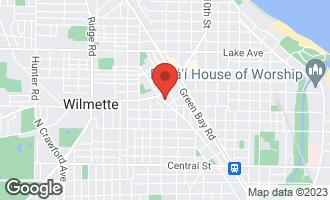 Map of 418 Prairie Avenue WILMETTE, IL 60091