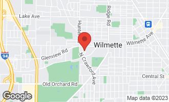 Map of 419 Alpine Lane WILMETTE, IL 60091